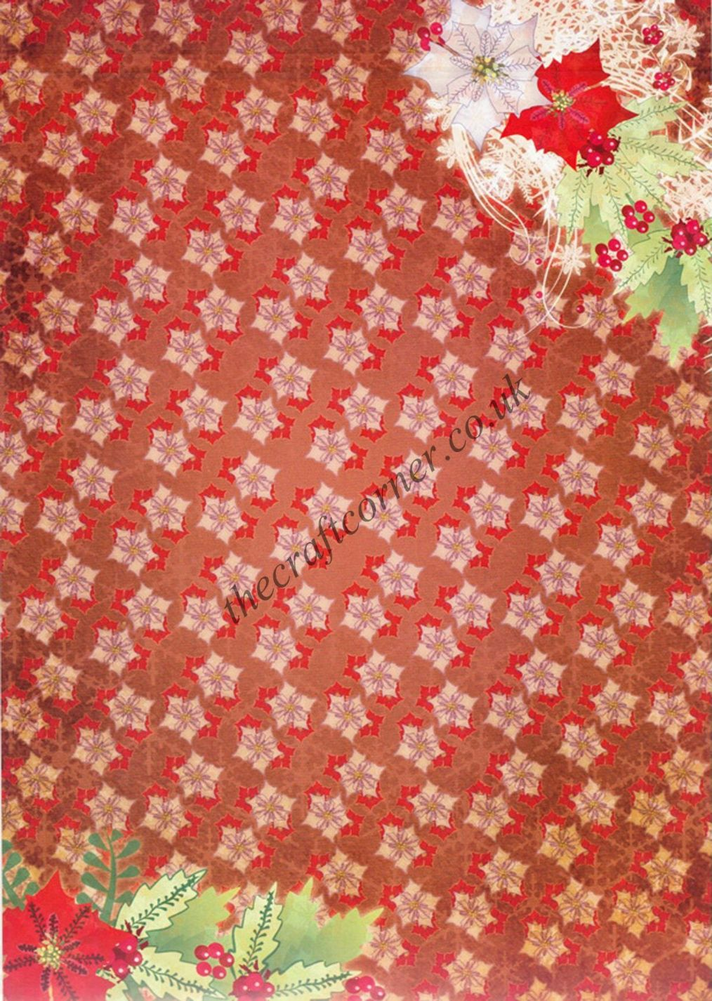 Die Cut Foil Christmas Scroll Toppers And Backing Card